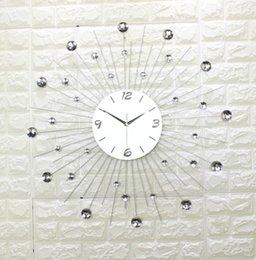 1 piece large size european wrought iron wall clock the sitting room quiet bracket clock fashion creative mute quartz clock
