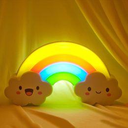 $enCountryForm.capitalKeyWord Canada - LED Rainbow Colorful Night Light Voice&Light Control Decorative Lights Baby Bedside Lamp Children Toy Batteries Powered ZJ0371