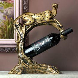 leopard wine rack business gift bar decoration home decoration accessories wine holder grape wine bottle holder - Wine Racks For Sale