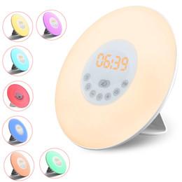 Touch lamp clock online shopping - Wake up Light alarm clock Sunrise Clock LED FM Radio LED Night Lamp Touch Sensor Digital Time Display Desktop