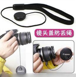 Dslr Camera Cap Australia - Wholesale-100pcs NEW Black Lens Cap Keeper Holder Cord Line Leash for Camera 5d2 53d 5d 10d d40 d80 d90 d3100 d5100d d7000 a100 a700 DSLR