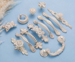 ceramic pull white color door handles and cabinet knobs and handles high quality furniture handles decoration for drawer desk cupboard