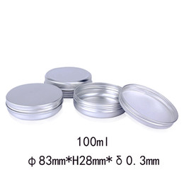 $enCountryForm.capitalKeyWord NZ - 100ml Empty Aluminum Cosmetic Containers Pot Lip Balm Jar Tin For Cream Ointment Hand Cream Packaging Container Box wa2838