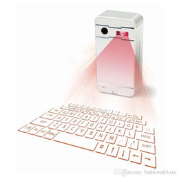 Laptop Projection NZ - Mini Wireless Laser Projection Keyboard Portable Virtual Bluetooth Laser Keyboard with Mouse Function for Android iPhone Tablet Laptop K01
