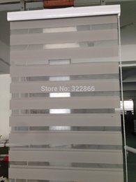 wholesale free shipping popular zebra blinds double layer roller blinds for room window customized size