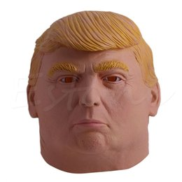 Costumes Donald Pas Cher-Vente en gros-1PC Donald Trump Halloween Masque Billionaire Presidential Costume Latex Cospaly