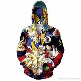 Ball zip online shopping - Japanese anime Dragon Ball Z Goku Zip Up Hoodie d print Zipper Sweatshirts Women Men Jumper Tops Sweats Outfits Q82