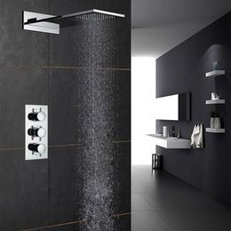 discount waterfall style bathroom faucets european style shower faucets set three functions rainfall showerheads waterfall