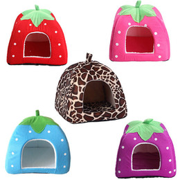 Cute Tents Canada - New Cute Lovely Puppy Cat Rabbit Guinea Pig Bed Kennel Nest Dog HouseDog House Foldable Soft High Quality Pet House