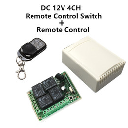 $enCountryForm.capitalKeyWord Canada - Wholesale- 433Mhz Universal Wireless Remote Control Switch DC12V 4CH relay Receiver Module and RF Transmitter 433 Mhz Remote Controls