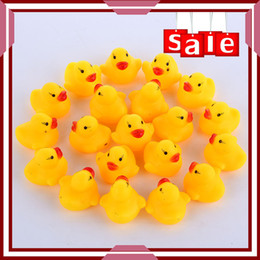 Toys Water Sound Baby NZ - Baby Bath Water Toy toys for sale Sounds Yellow Rubber Ducks Kids Bath Children Swiming Beach toys Gifts