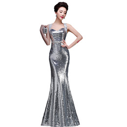 2017 nouvelle arrivée sirène paillettes robe de soirée sexy brillant formelle robe de bal
