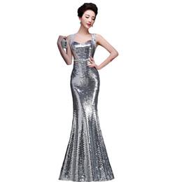Vestido de noche de las lentejuelas de la sirena de la nueva llegada 2017 vestido de baile formal atractivo brillante de la tarde
