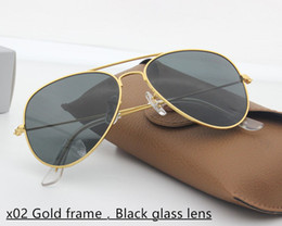 Pink Flash Drives Canada - 2019 Brand Designer Sunglasses Classic Sunglasses for Men Women Driving Sunglasses UV400 Metal Frame Flash Mirror Glass Lenses 58mm 62mm