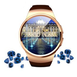 $enCountryForm.capitalKeyWord NZ - Bluetooth KW18 Smart Watch Smartwatch Phone 1.3 inches IPS Round Touch Screen with TF SIM Card Slot Sleep Heart Rate Monitor Wristwatch