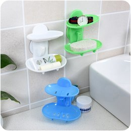 bathroom accessories tray Canada - Soap Box Sucker Type Bathroom Accessories Plastic Flexible High Quality Storage Holder Plate Tray Drain Creative Bath Tools 2mh J R