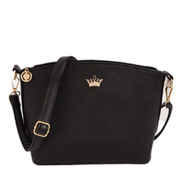 Wholesale- 2016 Women s handbags Imperial Crown Women Messenger Bags Shell  Mini Bags Crossbody ladies leather Shoulder hand bag for female 1337b49226