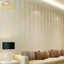 Modern Style Glitter Silver Stripe Non Woven Wallpaper Wall Covering Living  Room Bedroom Wall Decor Papel De Parede Beige White