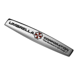 China Umbrella Corporation Resident Evil Zombie 3D Metal Car Auto Motorcycle Badge Chrome Logo Emblem Sticker SUV Truck Car-Styling cheap black chrome motorcycle suppliers
