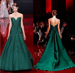 Dress Events NZ - Elie Saab Evening Dress High Quality Emerald Green Sweetheart Applique Long Women Wear Prom Party Dress Formal Event Gown
