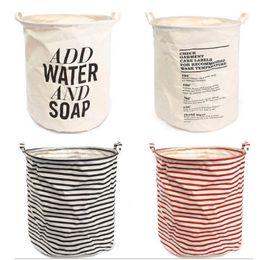 $enCountryForm.capitalKeyWord Canada - 2pcs free shipping Unique Foldable Cotton Linen Washing Clothes Laundry Basket Bag Hamper Storage