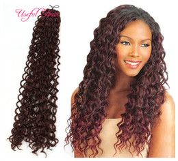 marley braiding hair wholesale Canada - Hot sell freetress crochet braid synthetic braiding hair 20inch water wave crochet hair extensions curly ,crochet braids For marley braids