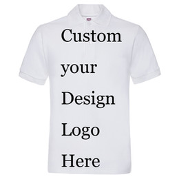 0e0f8f7505c DIY Own logo printing Personal Custom printed t shirts customized printing  poloshirts mens t-shirts embroidery silk screen print service