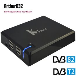 Discount android 1gb 8gb - KI Plus + DVB S2 T2 Android 7.1 TV Box Amlogic S905 Quad Core 1G 8G Wifi H.265 UHD 4K 1080P U DISK USB DLNA HDD Media Pl