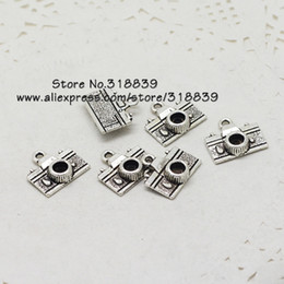 vintage camera pendant Canada - Wholesale-Vintage Silver Metal Zinc Alloy Mini Camera Charms Fit Diy Jewelry Making Pendant Charms 50pcs lot 7206