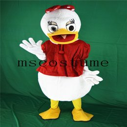 Mascota De Muñeca Baratos-2017 Hot Christmas Duck Girl Animal de Halloween Don Girl Cartoon Doll Mascota Traje Caminar Adultos Tamaño Props