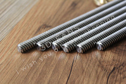 wholesale 3d printer Canada - Freeshipping 5pcs\lot RepRap 3D Printer THSL-500-8D T-type stepper motor Lead Screw Dia 8MM Thread 8mm Length 500mm with Copper Nut