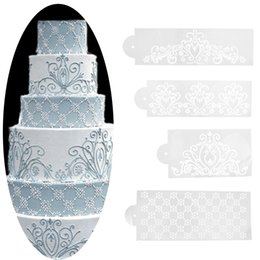 Discount cake lace stencil 2017 cake lace stencil on for Lace templates for cakes