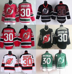 2016 Mens NJ New Jersey Devils  30 Brodeur Red Black White Green Hockey  Jerseys New and Cheap wholesale prices free shipping mix order 890070d03
