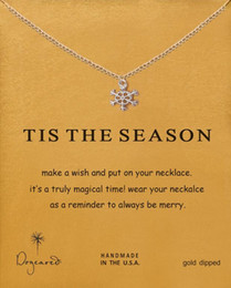 Easter gifts for wife online easter gifts for wife for sale with card cute dogeared necklace snowflakes pendant clavicle chain for wife girlfriend gift silver color negle Images