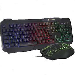 $enCountryForm.capitalKeyWord Canada - Top USB Wired Optical Keyboard Slim Gaming Keyboard and Mouse Kit Backlights Keyboard 1600DPI Mice Illuminated Gamers