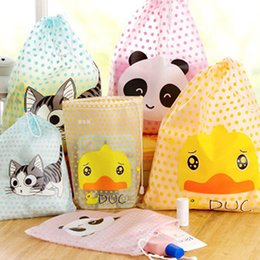 $enCountryForm.capitalKeyWord Canada - Wholesale- 2016 Fashion Cat Duck Panda Waterproof Travel Cosmetic Bag Makeup Pouch Toiletry Storage Organizer Container String Handbag P2