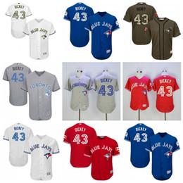 0880740ded6 ... 43 R.A. Dickey Jerseys Mens Toronto Blue Jays Baseball Jerseys s  Flexbase Cool Base Father Day ...