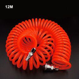 $enCountryForm.capitalKeyWord Australia - free shipping pneumatic tube spring pipe PU air hose 12M high pressure hose with quick couple 8X5mm