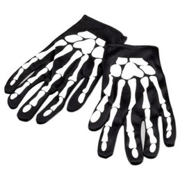 Wholesale corpse party cosplay for sale – halloween Halloween Skeleton Bone Fancy Dress Gloves Cosplay Monster Devil Corpse Costume Party Carnival Masquerade Easter gloves festive supply Black