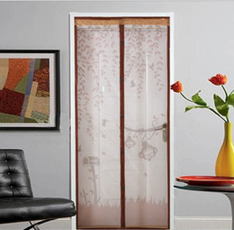 Ceiling Curtains online shopping - Eco Friendly Screen Door Curtain Window Anti Mosquito Bedroom High Grade Magnet Soft Scenery Curtain Living Room Sheer Curtains Flies