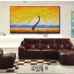 tree scenery paintings UK - Modern Simple Flowers Tree Painting Hand Painted Scenery Oil Painting on Canvas Wall Art Home Decoration