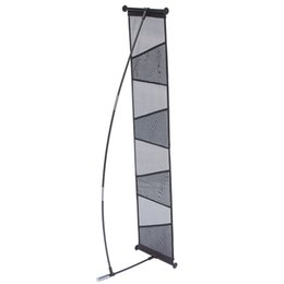 Discount bag stand display rack - New Brochure Stand Holder Literature Rack (4 pockets) with ABS Clips Fiberglass Pole 4pcs Brochure Holders Portable Carr