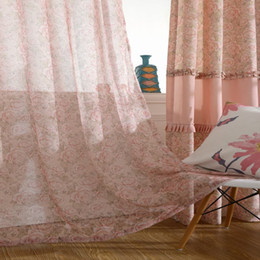 Rose Kitchen Curtains Korean Type Pink Rose Floral Print Window Blackout  Curtain Living Room
