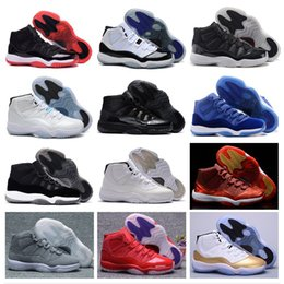 Barato Sapatos Azuis Atacado-Atacado Retro 11 Basketball Shoes space jam retro 11 JXI Sports Shoes Pantone legend Bred Sneakers Athletics Womens Cheap Shoes Men Boost