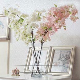 $enCountryForm.capitalKeyWord Canada - White Cherry Blossom Artificial Silk Flower garland wedding decorations Flower Bouquet for Wedding part Decoration Home Decor Supplies