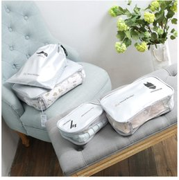 $enCountryForm.capitalKeyWord Canada - 2017 new style fashion woman bags New 4 set Women Men Travel Storage Bags High-grade thickening suitcase, clothes sorting bags free shipping
