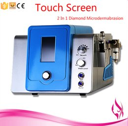 Oxygen jet facial machines online shopping - Touch Screen In Diamond Microdermabrasion Hydra Dermabrasion Hydrafacial Water Oxygen Jet Peel Facial Machine With Four Cleaning Bottle