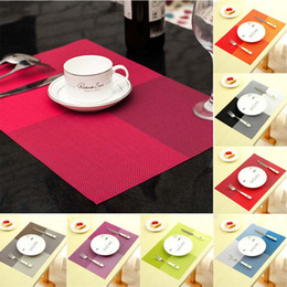 Kitchen Place Mats Canada - New Fashion PVC Dining Table Placemat Europe Style Kitchen Tool Tableware Pad Coaster Coffee Tea Place Mat