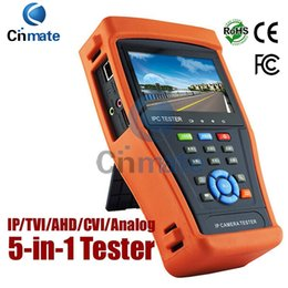 Cctv Wifi Ip Canada - 4.3 Inch Touch Screen IP Camera Tester CCTV Tester Analog Tester with HD-TVI HD-CVI AHD POE IP discovery Rapid ONVIF WIFI HDMI Out 4300ADH
