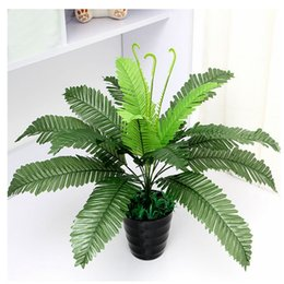 Amazing 40cm Artificial Silk Foliage Plant Simulaton Plastic Large Boston Fern For  Office Home Indoor Garden Decoration DIY Gardening